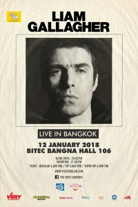 POSTER LIAM GALLAGHER LIVE IN BANGKOK